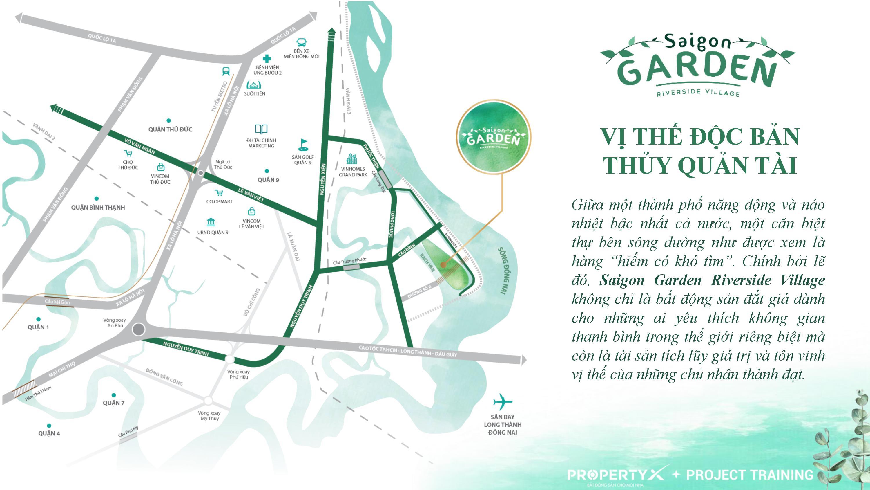 dự án saigon garden riverside village - vị trí dự án