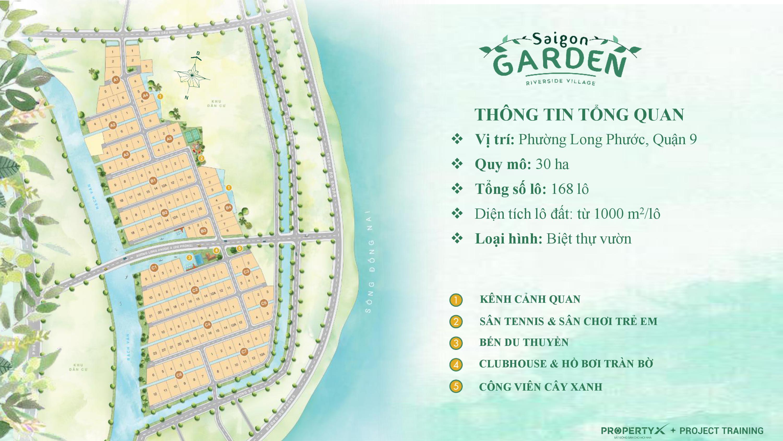 dự án saigon garden riverside village - mặt bằng dự án