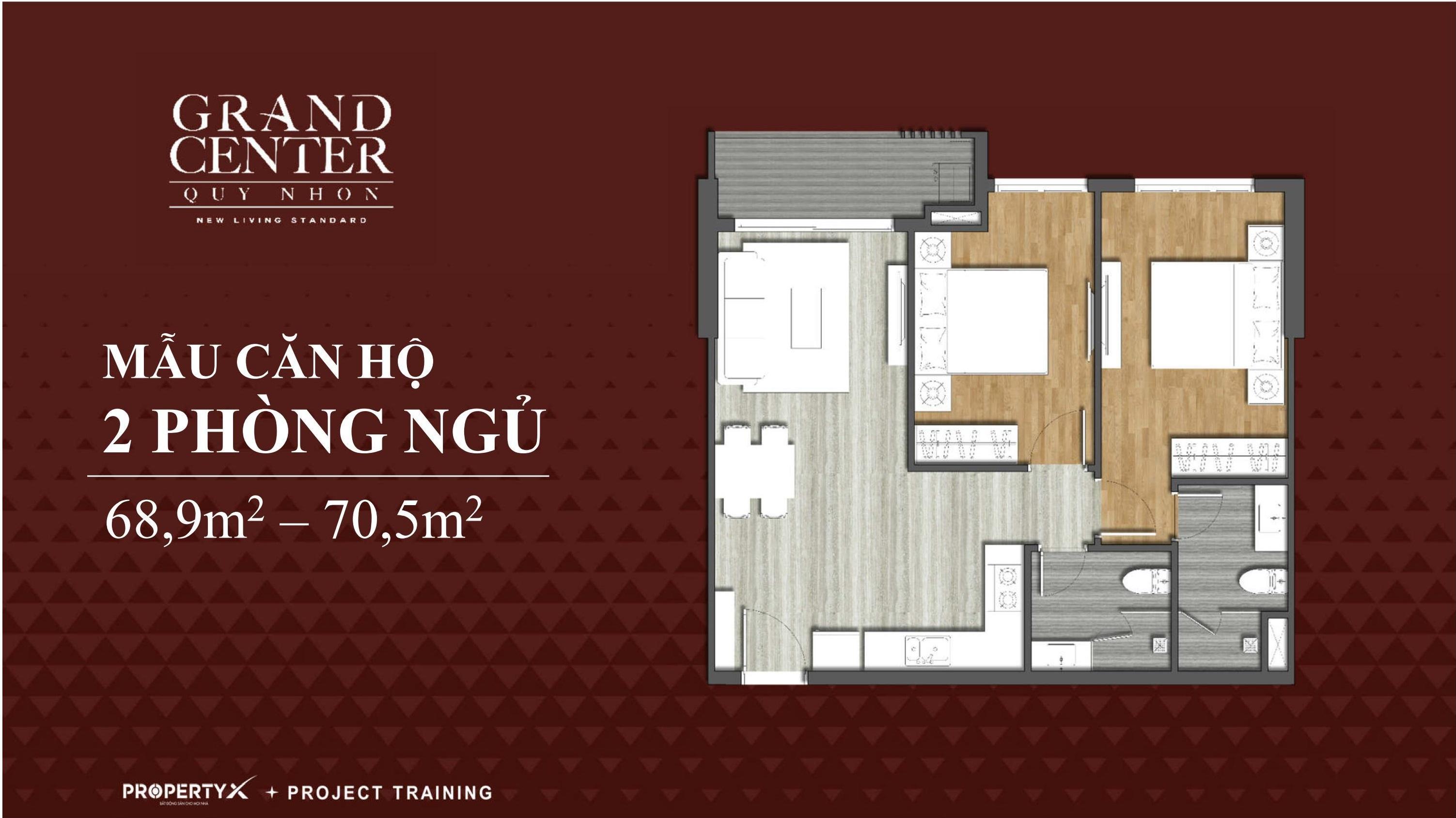 dự án grand center quy nhơn - thiết kế căn hộ