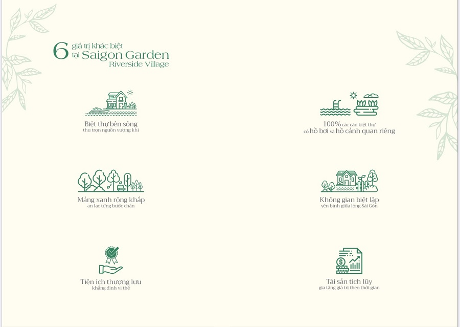 dự án saigon garden riverside village - giá trị