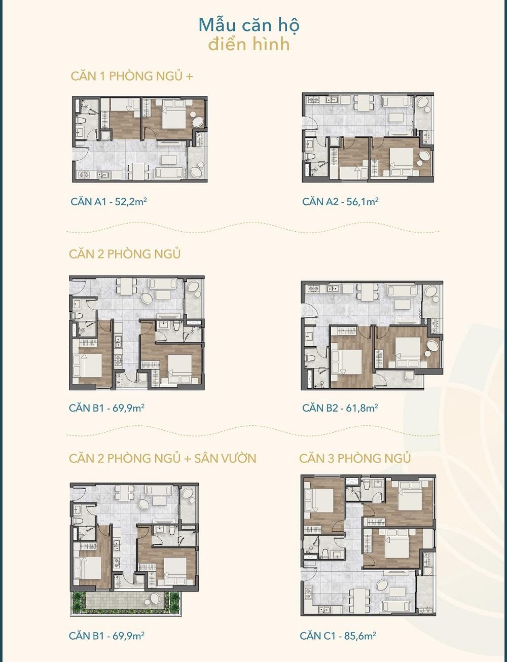 dự án hồ tràm complex - mẫu căn hộ