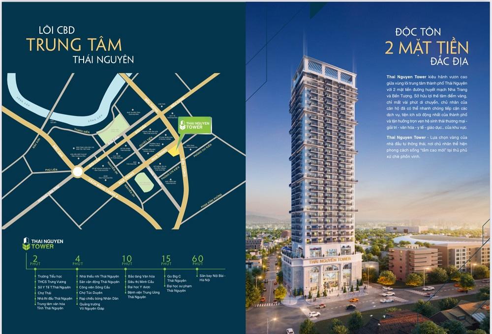 dự án thái nguyên tower hưng thịnh - vị trí